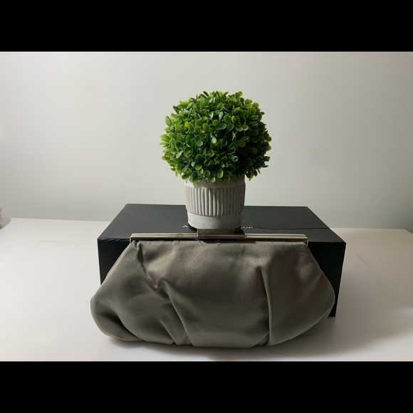Lulu Townsend Handbags - ✨2/$20 Satin gray Lulu Townsend clutch✨